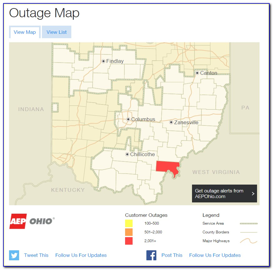 Aep Outage Map Ohio