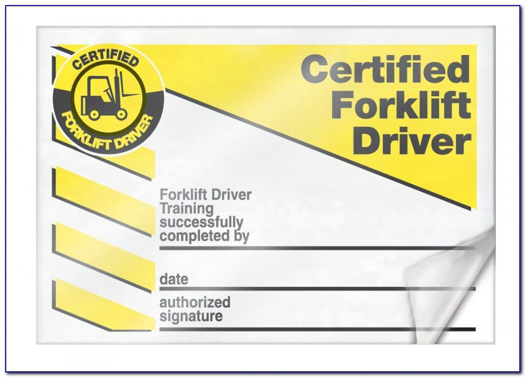 Aerial Lift Certification Card Template Pdf