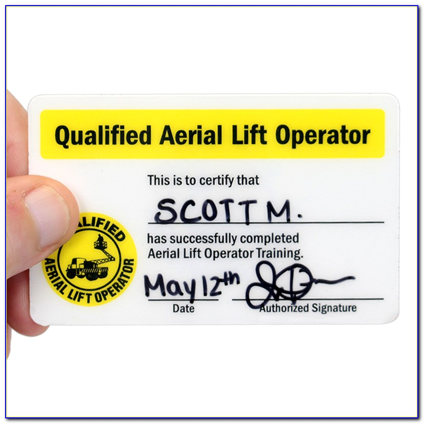 Aerial Lift Train The Trainer Instructor Certification
