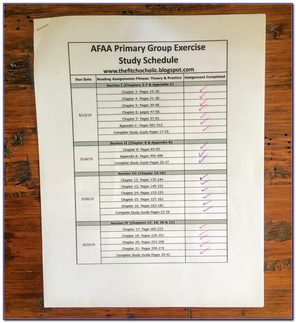 Afaa Group Fitness Certification