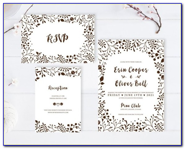 Affordable Wedding Invitations With Rsvp Cards