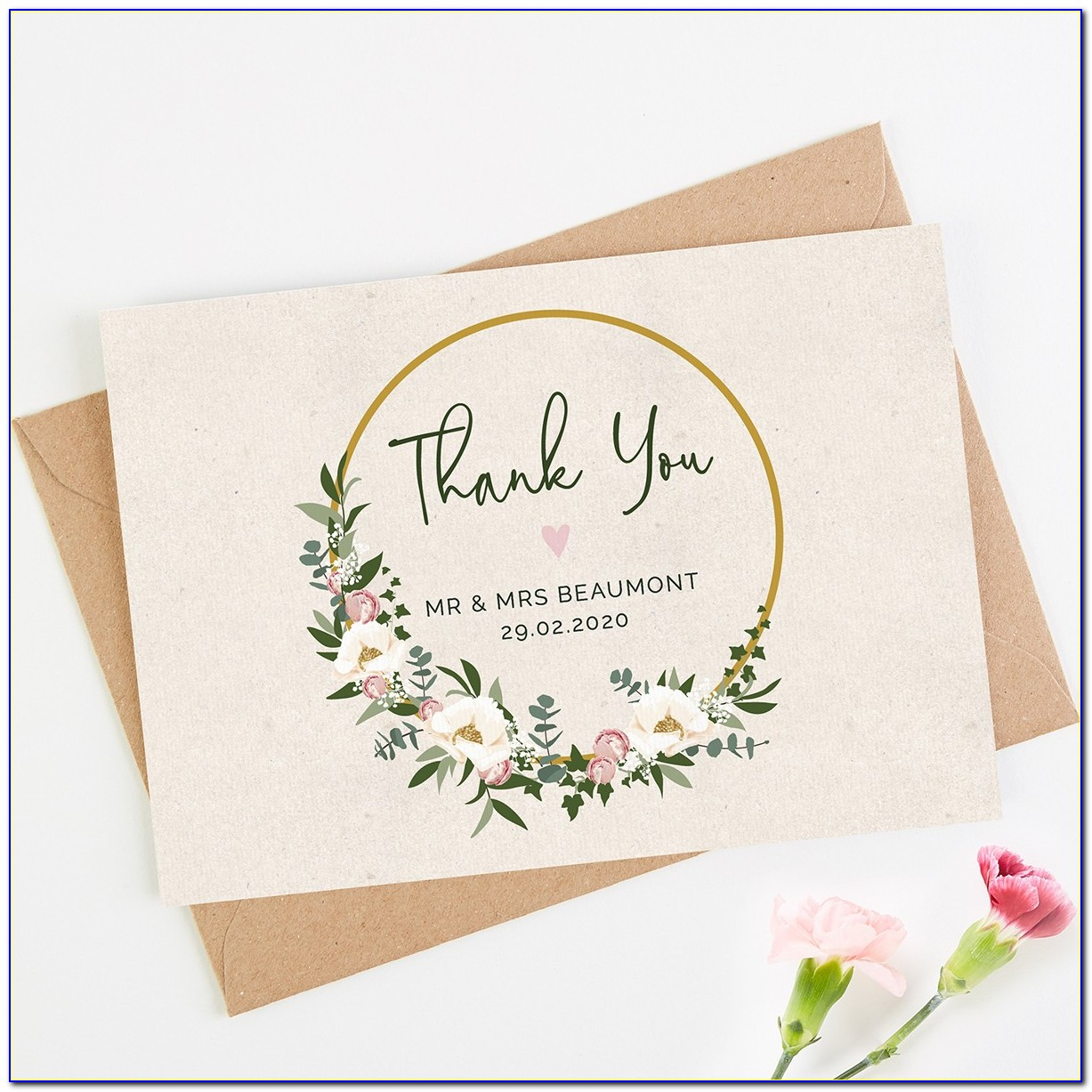 Affordable Wedding Thank You Cards