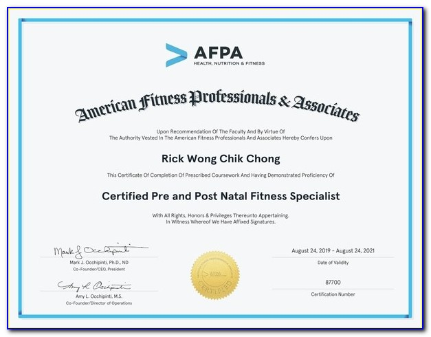 Afpa Nutrition And Wellness Certification Reviews