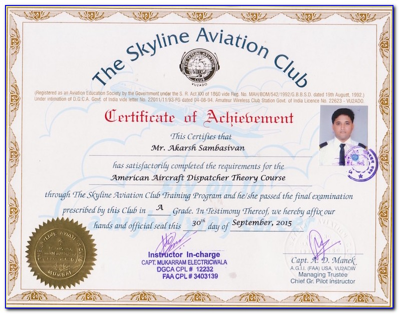 Aircraft Dispatcher Certificate Requirements