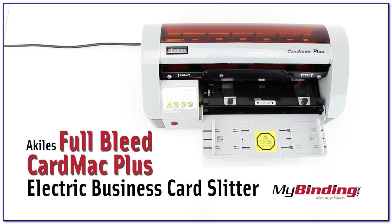 Akiles Cardmac Pro Full Bleed Electric Business Card Slitter