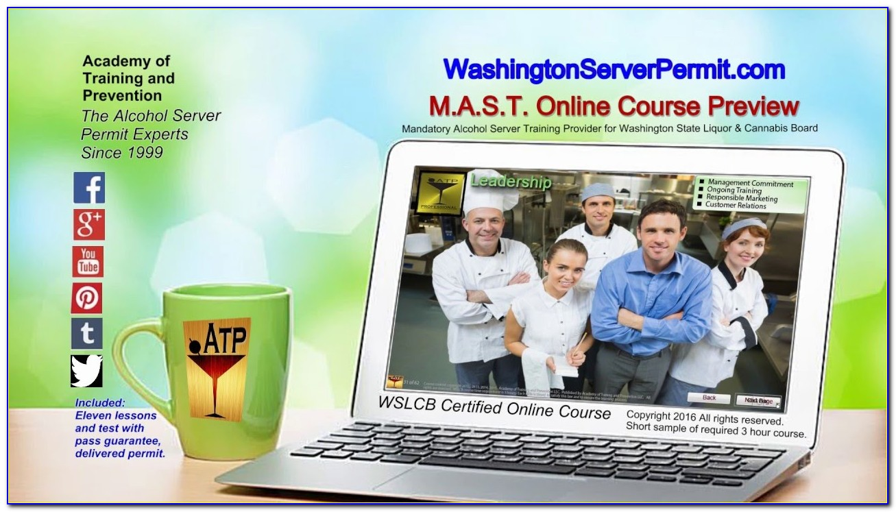 Alcohol Server Certification Washington