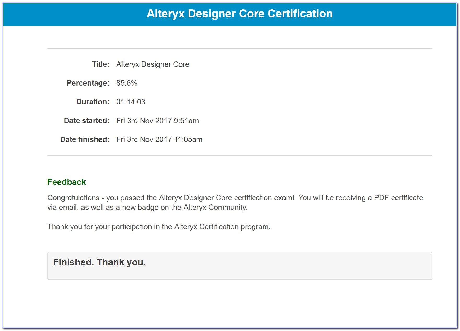Alteryx Certification Questions And Answers