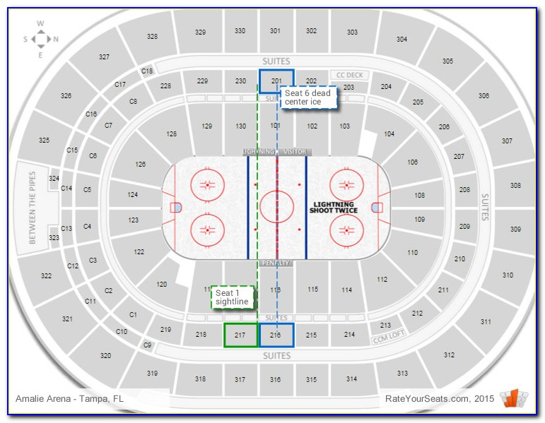 Amalie Arena Seating Chart Rows