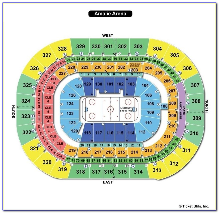 Amalie Arena Seating Chart With Rows And Seat Numbers