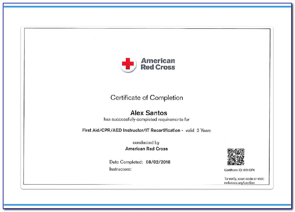 American Red Cross Cpr Certification Lost Card