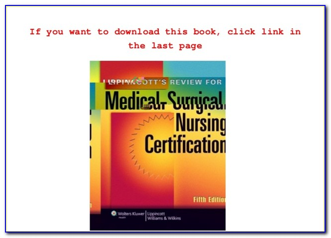 Ancc Med Surg Certification Review Book