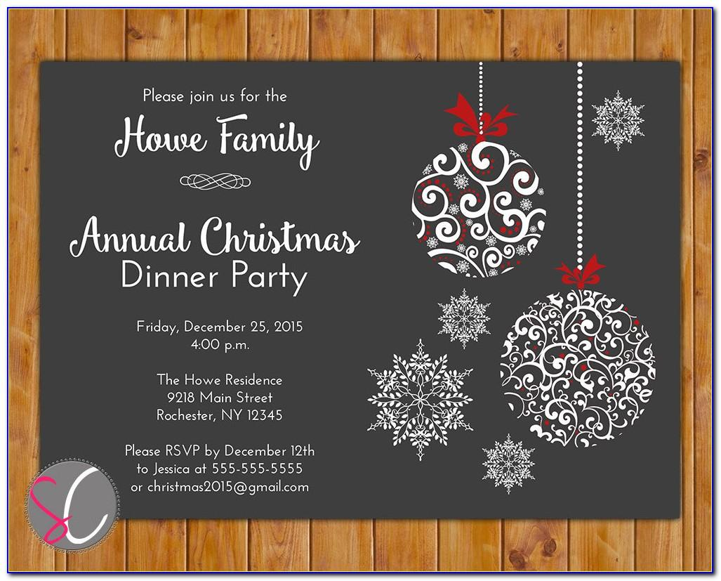 Annual Holiday Party Invitation Template
