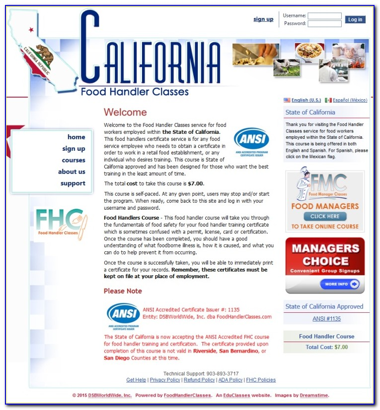 Ansi Food Safety Certification Exam