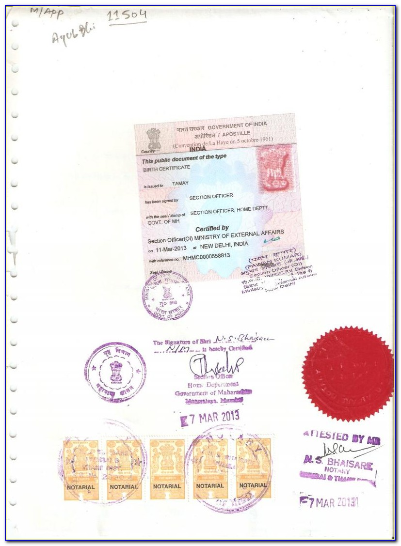 Apostille Marriage Certificate Indiana