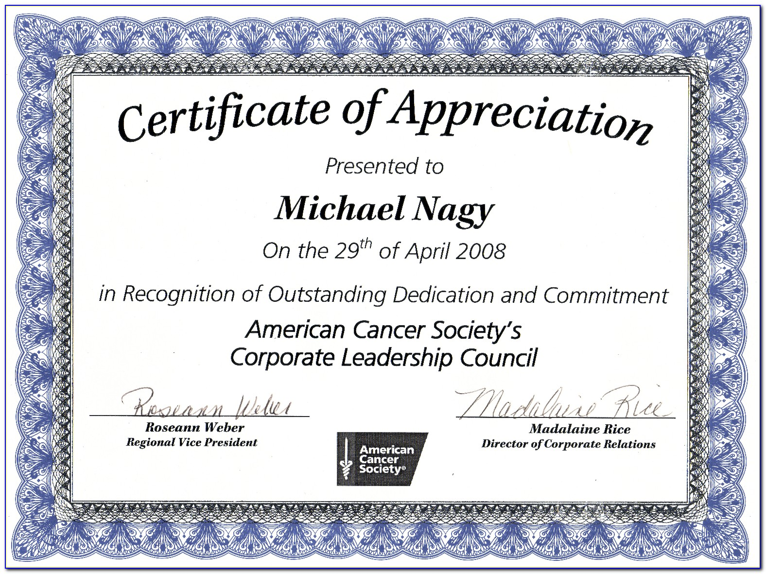 Army Certificate Of Appreciation Wording Examples