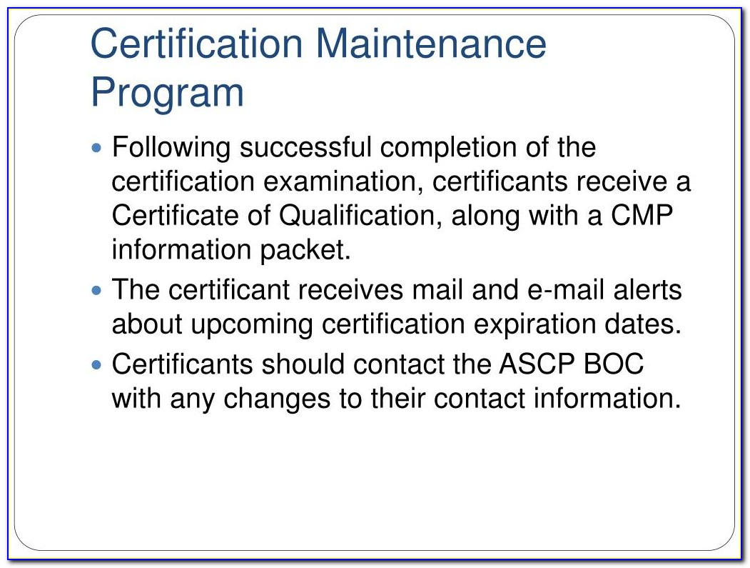 Ascp Certification Renewal Form