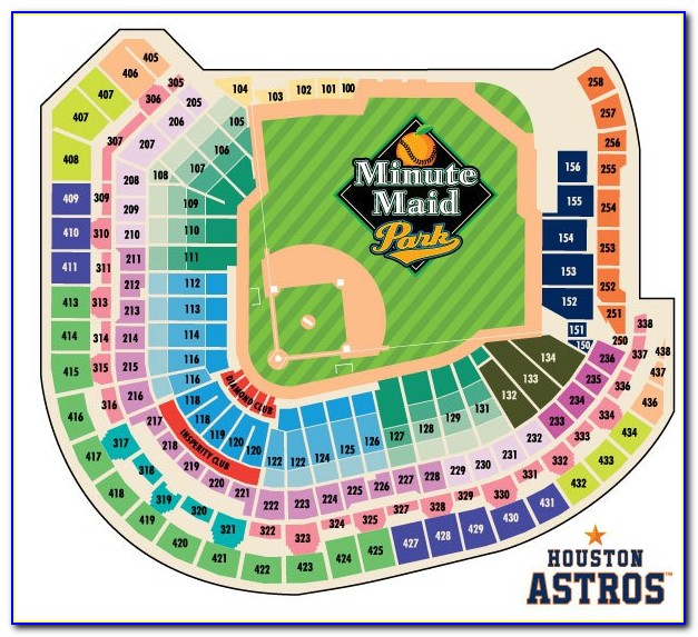Astros Minute Maid Park Seating Map