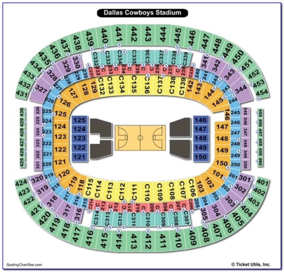 Att Stadium Seating Chart Football