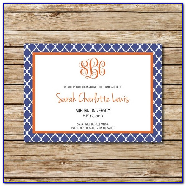 Auburn University Graduation Invitations