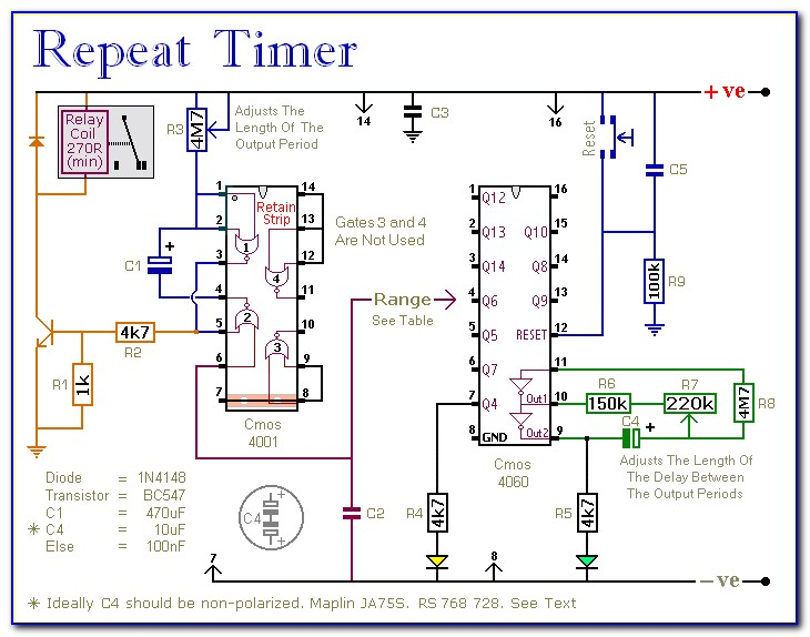 Automatic On Off Timer Circuit Diagram