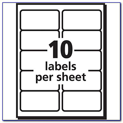 Avery 2x4 Label Template Word