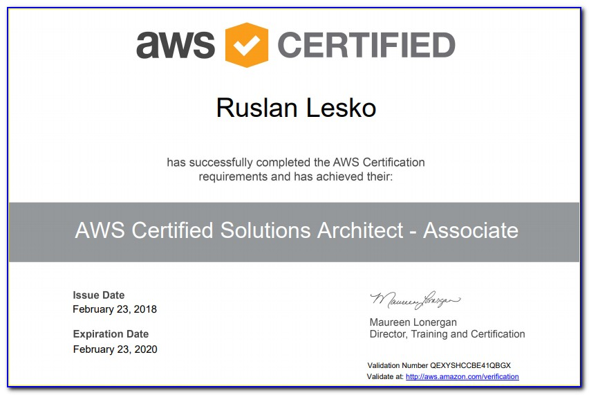 Aws Certification Renewal Status