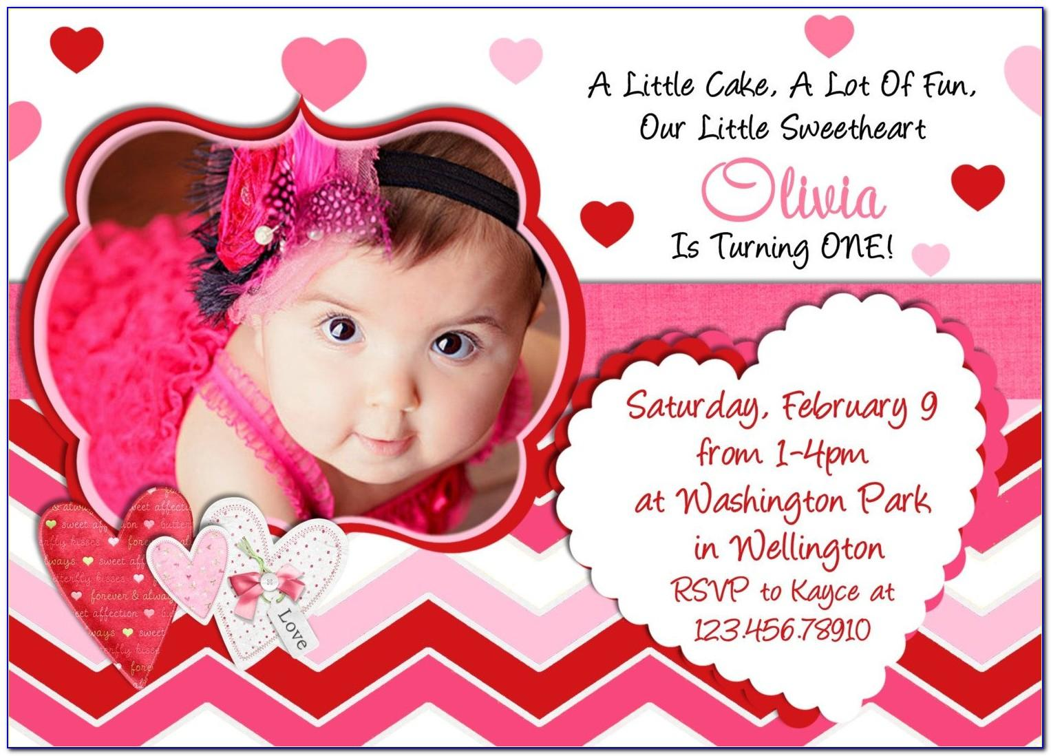 Baby Birthday Invitation Card Editing