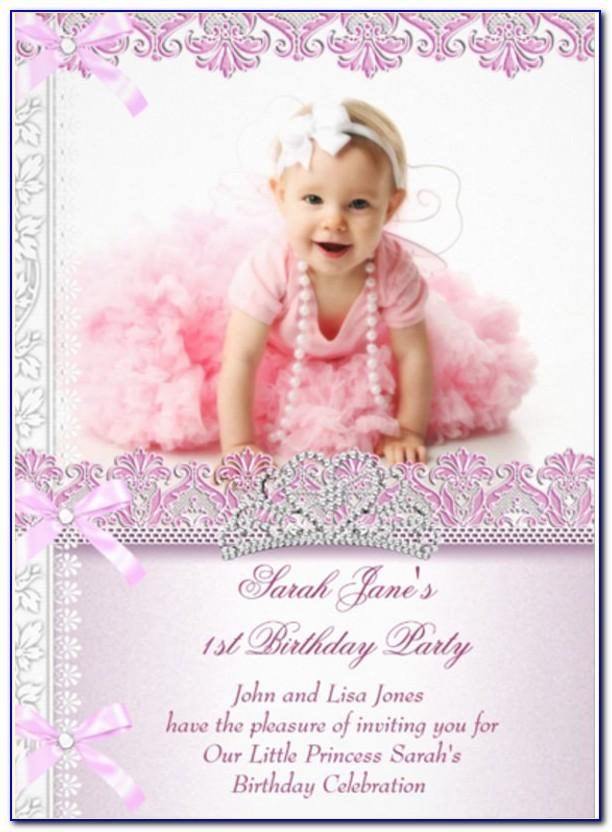 Baby Girl Birthday Invitation Card Online Free