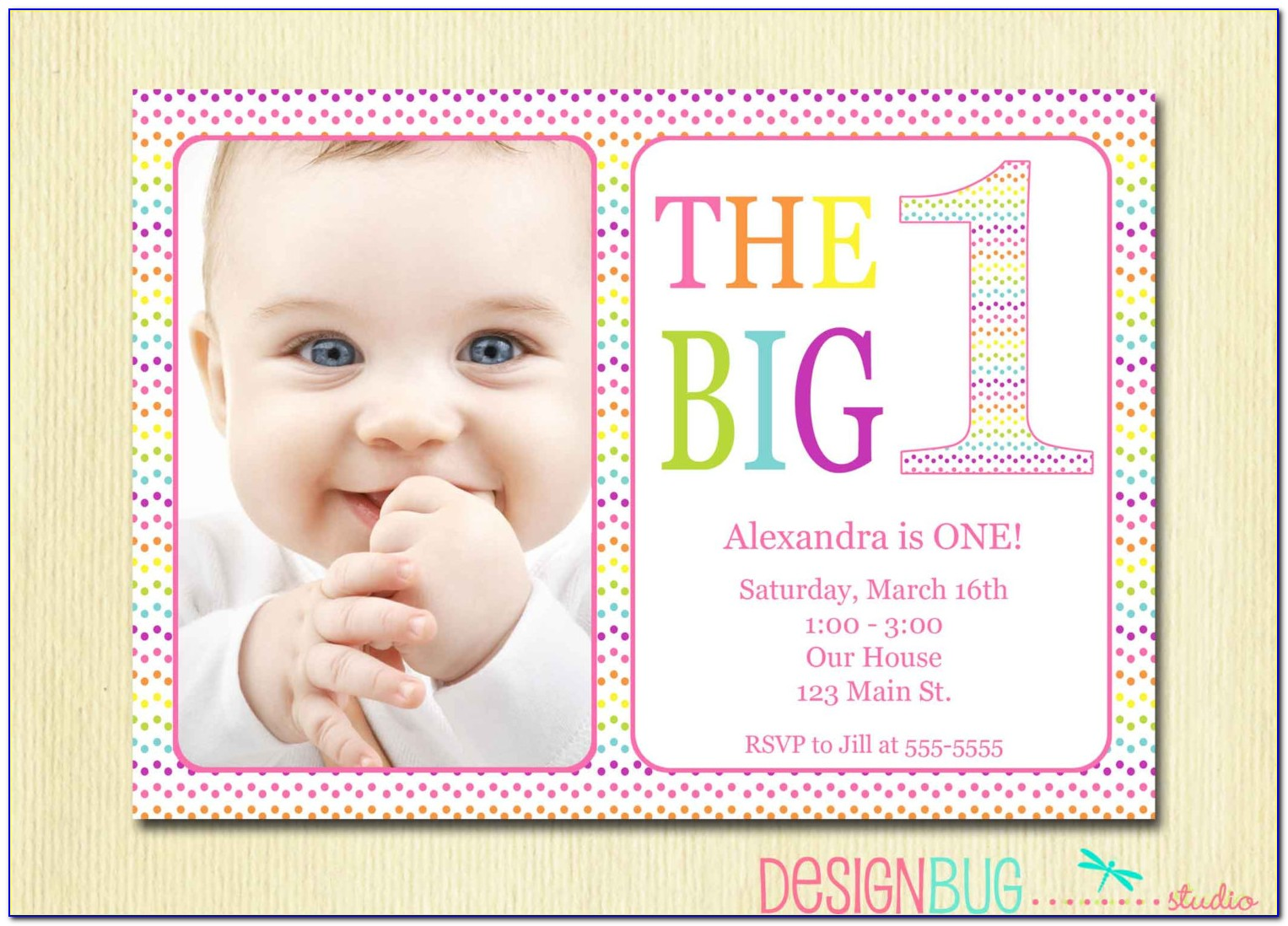 Baby Girl First Birthday Invitation Message