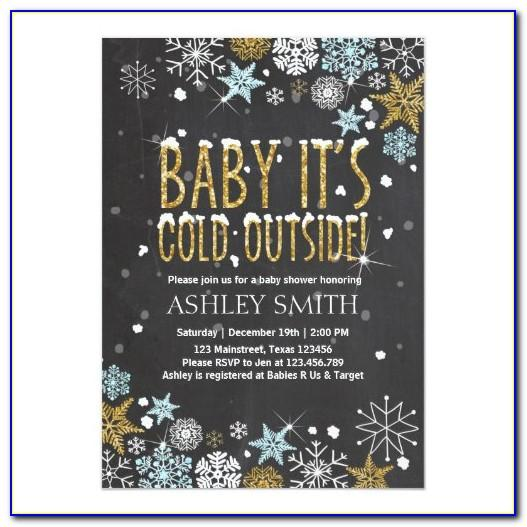 Baby Its Cold Outside Baby Shower Invitation Template