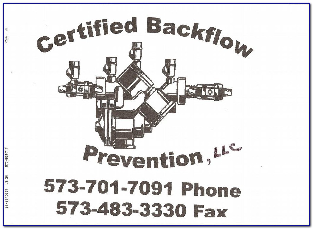 Backflow Prevention Certification Ny