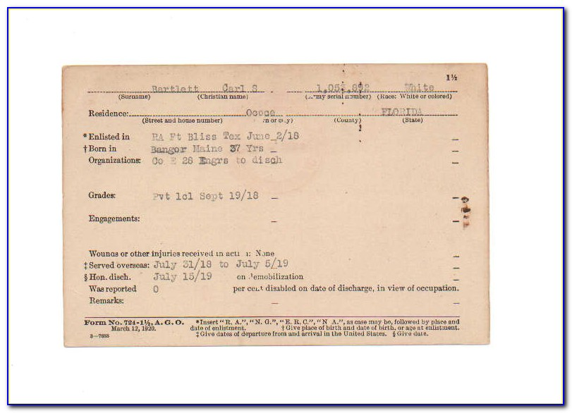 Baptism Certificate With Notations
