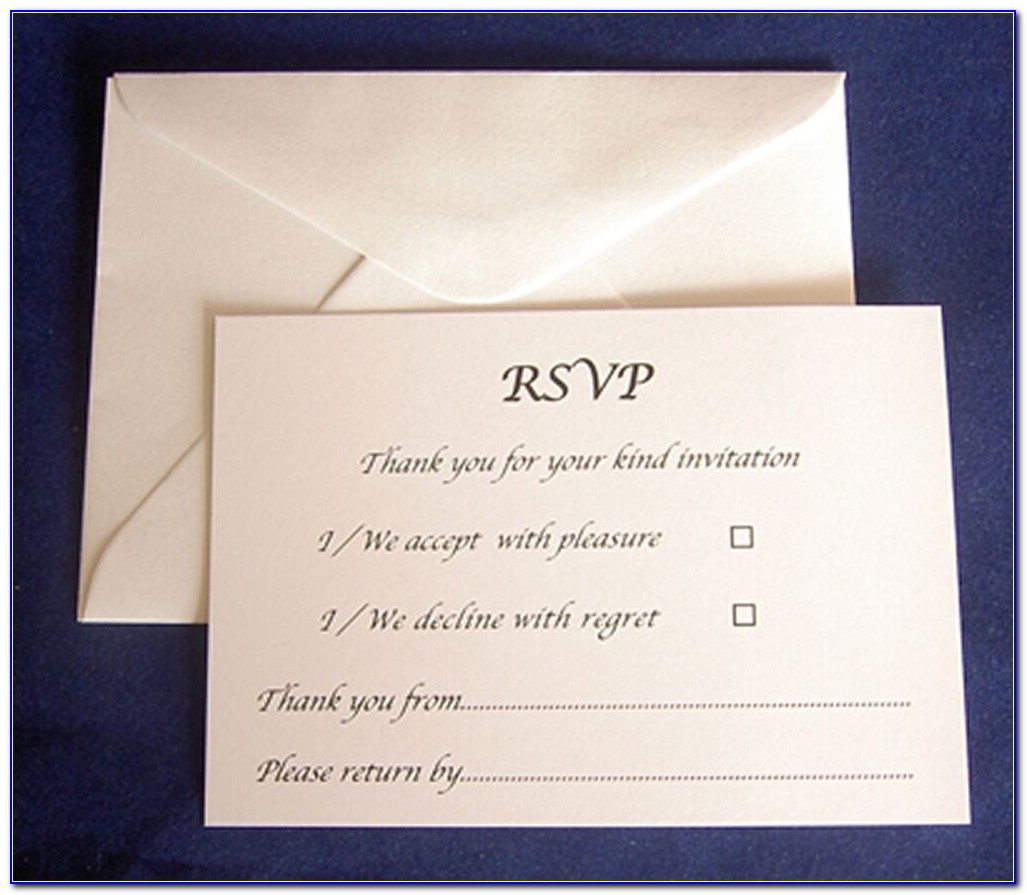 Baptism Invitations With Rsvp Cards