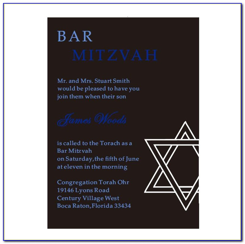 Bar Mitzvah Invitations Rsvp Cards