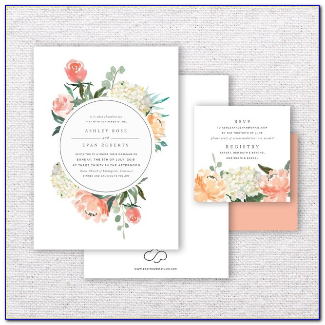 Beige And Gold Wedding Invitations
