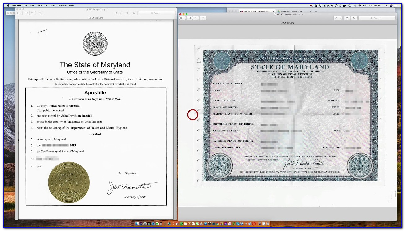 Birth Certificate Replacement Annapolis Maryland