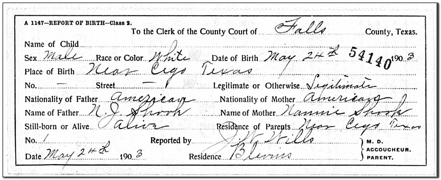 Birth Certificate Waco Texas
