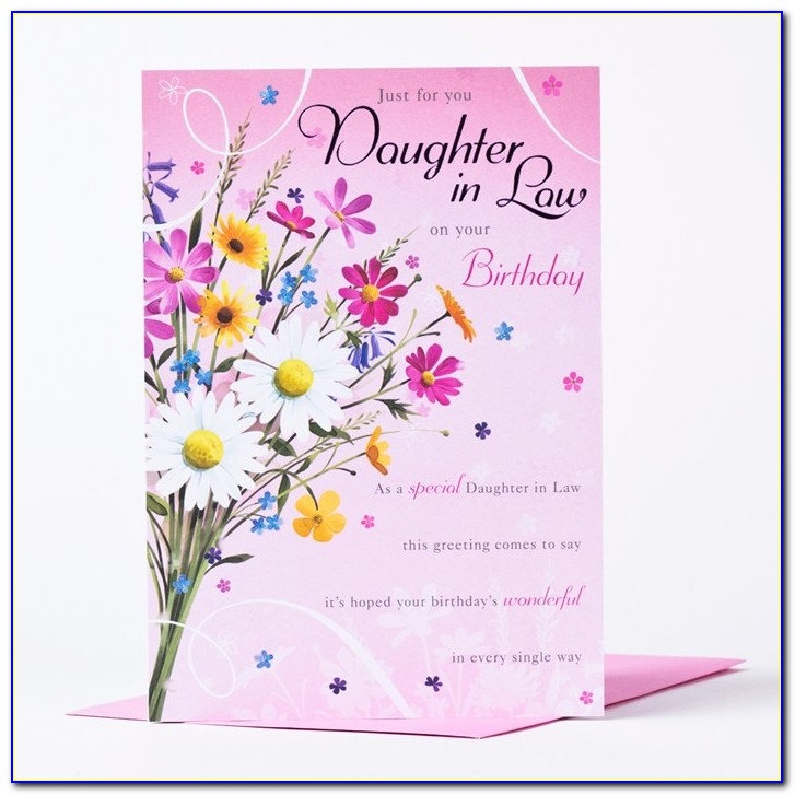Birthday Card For My Daughter In Law