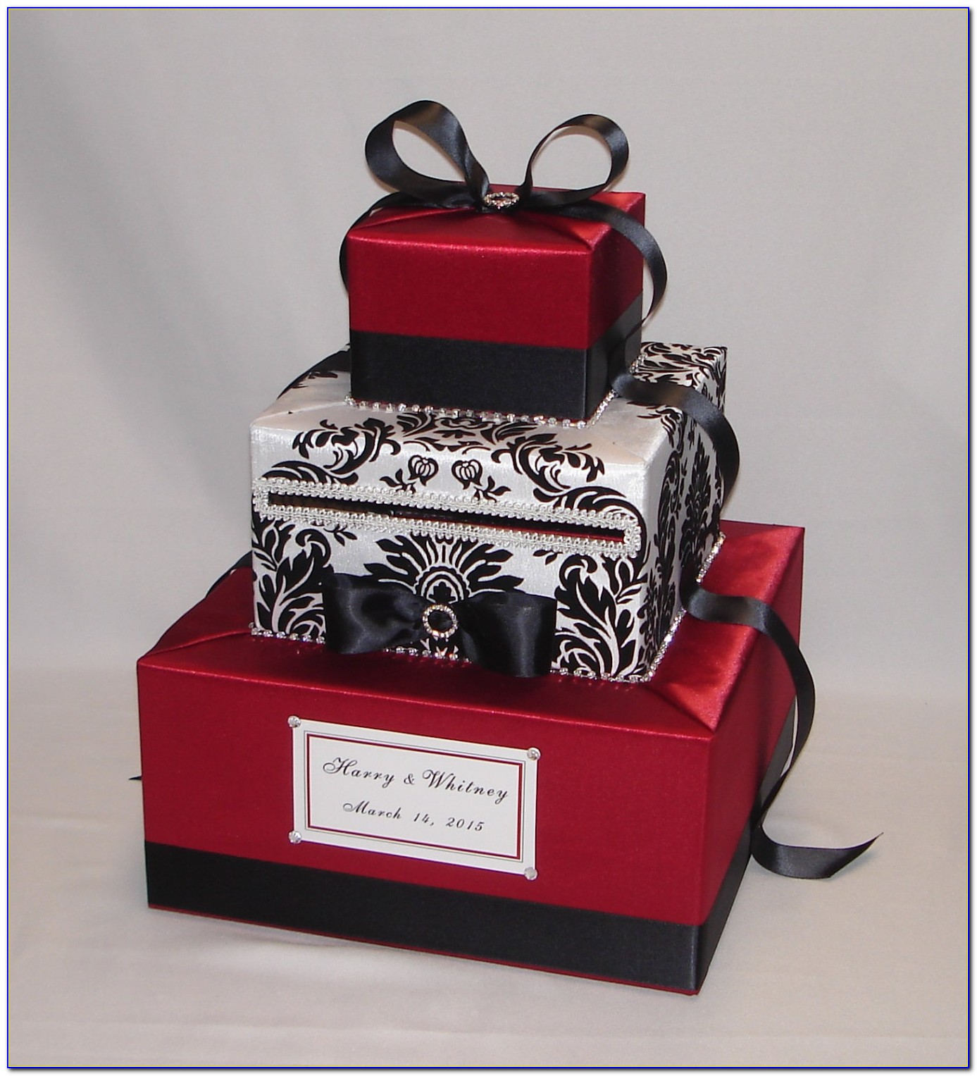 Black And White Wedding Card Box