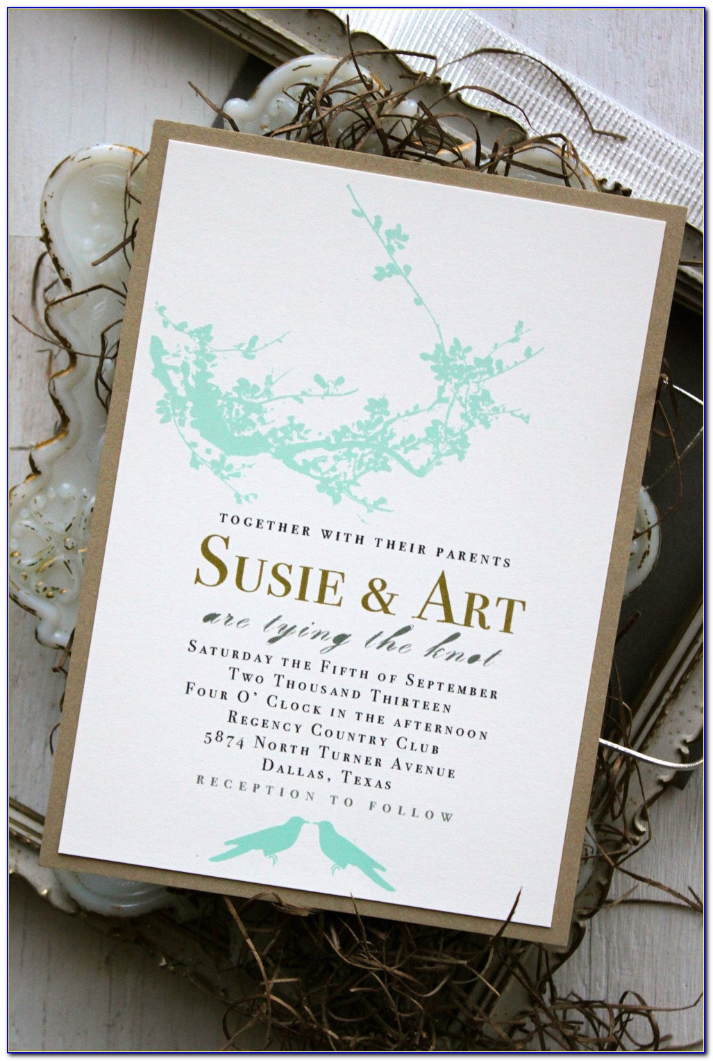 Black And White Wedding Invitations Minted