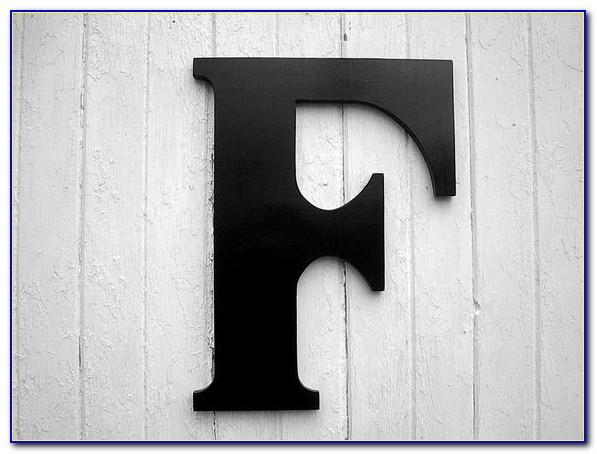 Black Wooden Letters Wall Decor