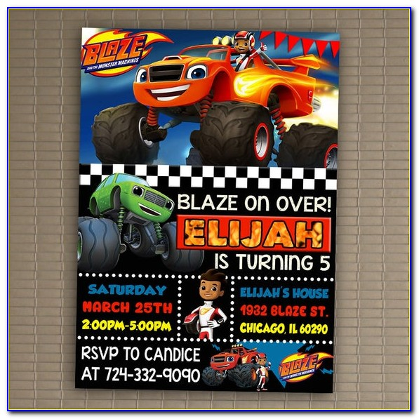 Blaze And The Monster Machines Invitations Printables