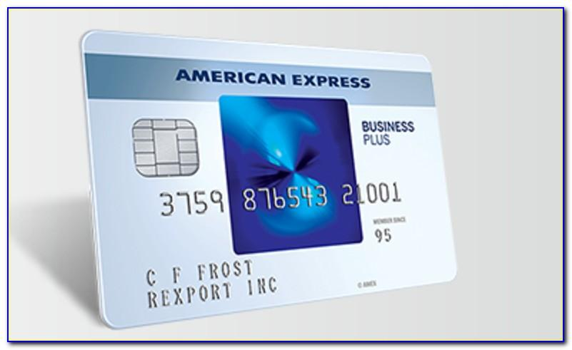 Blue Business Card American Express