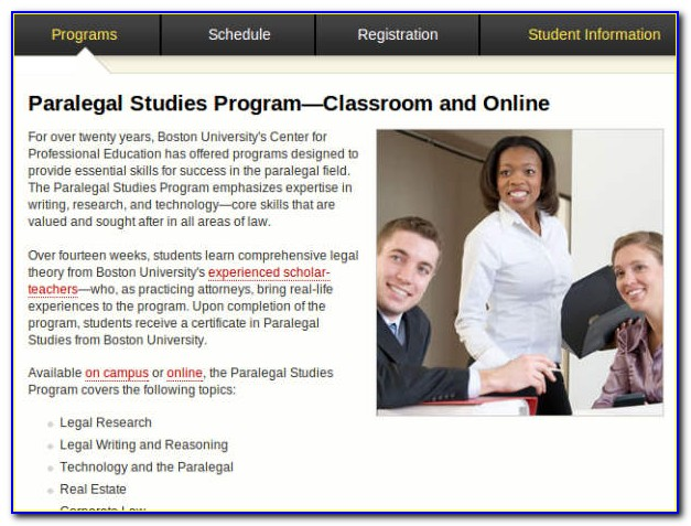 Boston University Paralegal Certificate Tuition