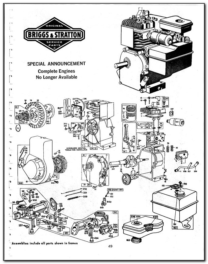Briggs And Stratton Engine Parts Lookup