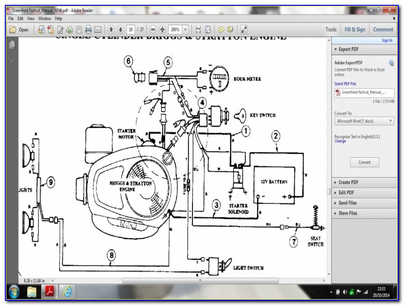 Briggs And Stratton Wiring Diagram 19 Hp