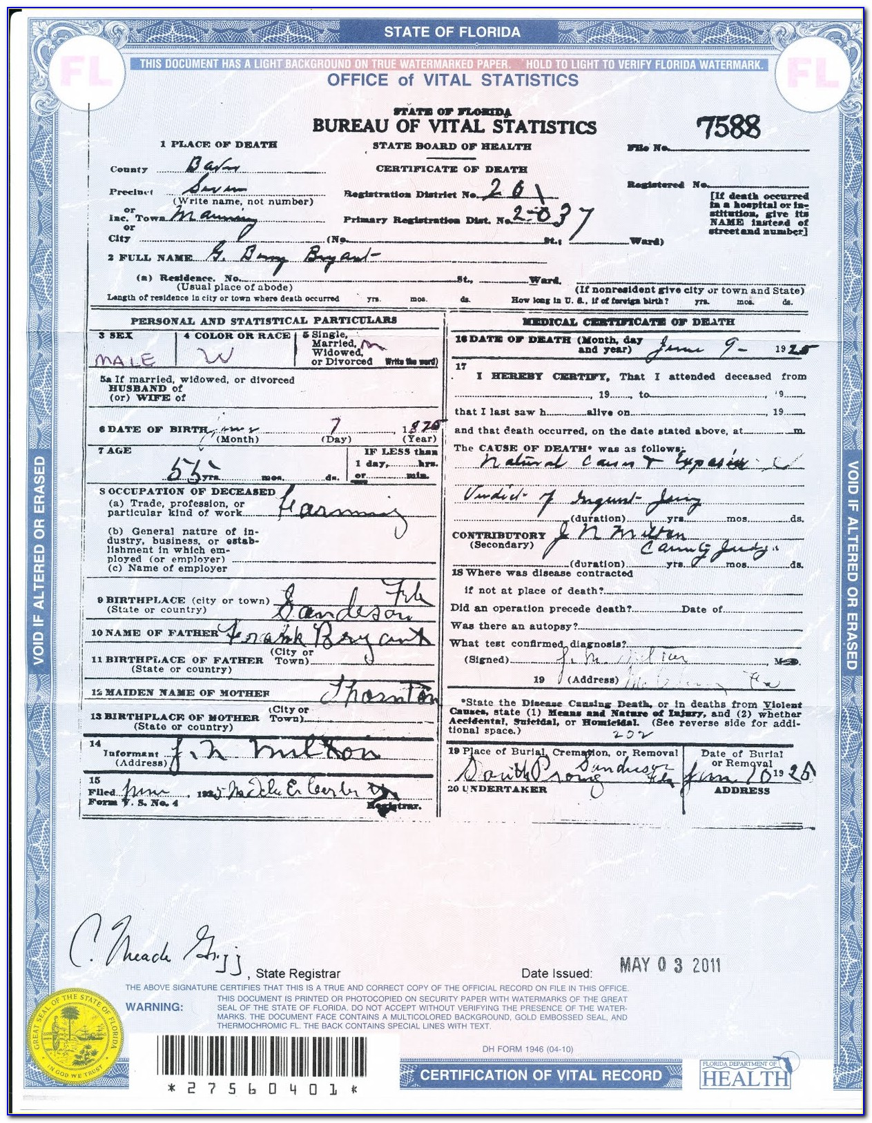 Broward County Birth Certificate Replacement
