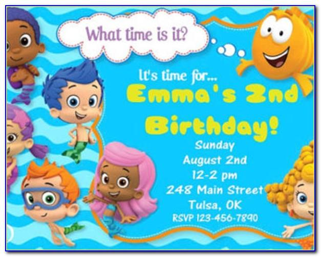 Bubble Guppies Birthday Party Free Printables