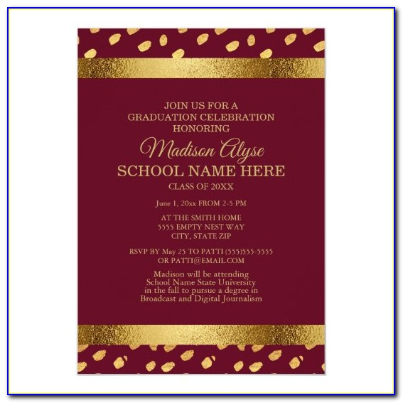 Burgundy And Gold Quince Invitations