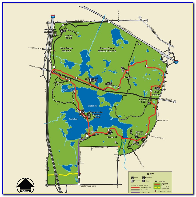 Busse Woods Map